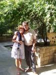 Kathy and David at Jumblatt's compound