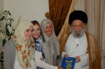 Sheik Fadlallah gives us a copy of his favorite book.