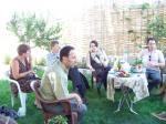 Tea in Hikmet's garden.