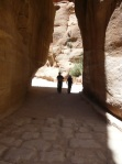 Wandering down the siq on our way to Petra.