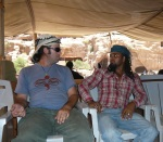 Anees with a Bedouin pal.